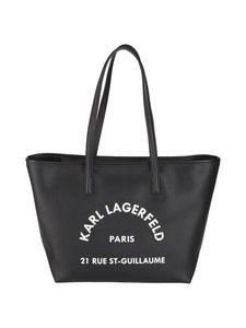 Karl Lagerfeld - Rue St-Guillaume Tote -nahkalaukku - BLACK A999   Stockmann