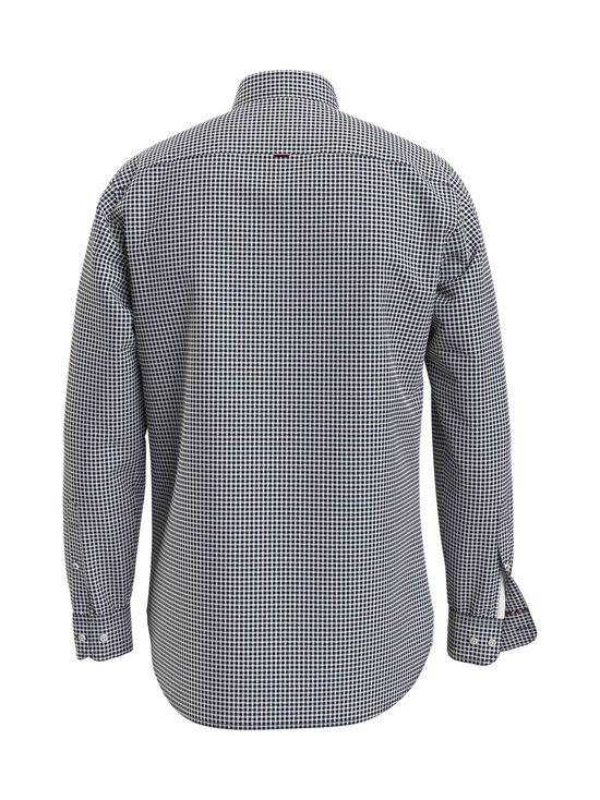 Tommy Hilfiger - Cotton Cashmere Chk Dobby Shirt -kauluspaita - 0MU CARBON NAVY / WHITE | Stockmann - photo 2
