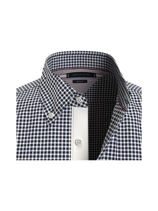 Tommy Hilfiger - Cotton Cashmere Chk Dobby Shirt -kauluspaita - 0MU CARBON NAVY / WHITE | Stockmann - photo 3