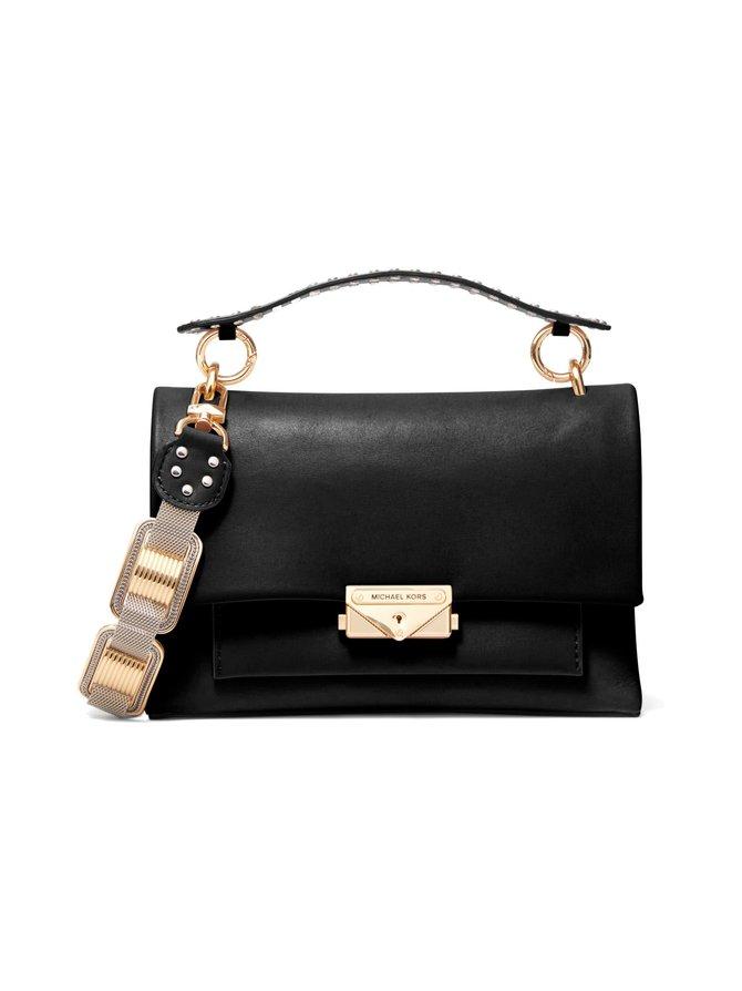 Cece Medium Two-Tone Leather Chain Shoulder Bag -nahkalaukku