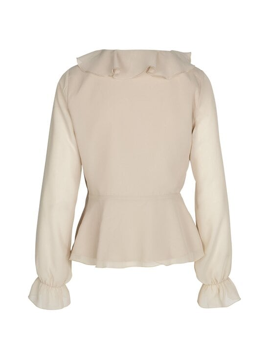 NA-KD - Wrapped Ruffle Blouse -pusero - BEIGE | Stockmann - photo 2