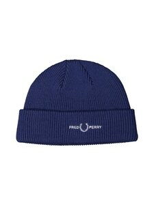 Fred Perry - Graphic Branded Beanie -merinosekoitepipo - 126 MEDIEVAL BLUE | Stockmann