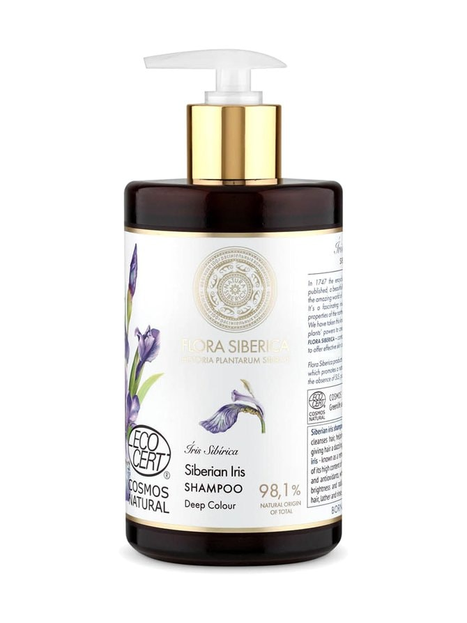 Flora Siberica Siberian Iris -shampoo värjätyille hiuksille 480 ml