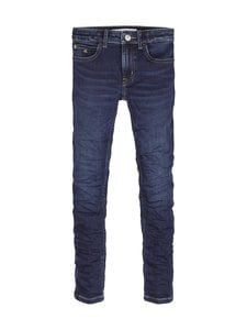 Calvin Klein Kids - Super Skinny -farkut - 1BK ESSENTIAL DARK BLUE STRETCH | Stockmann