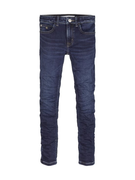 Calvin Klein Kids - Super Skinny -farkut - 1BK ESSENTIAL DARK BLUE STRETCH | Stockmann - photo 1