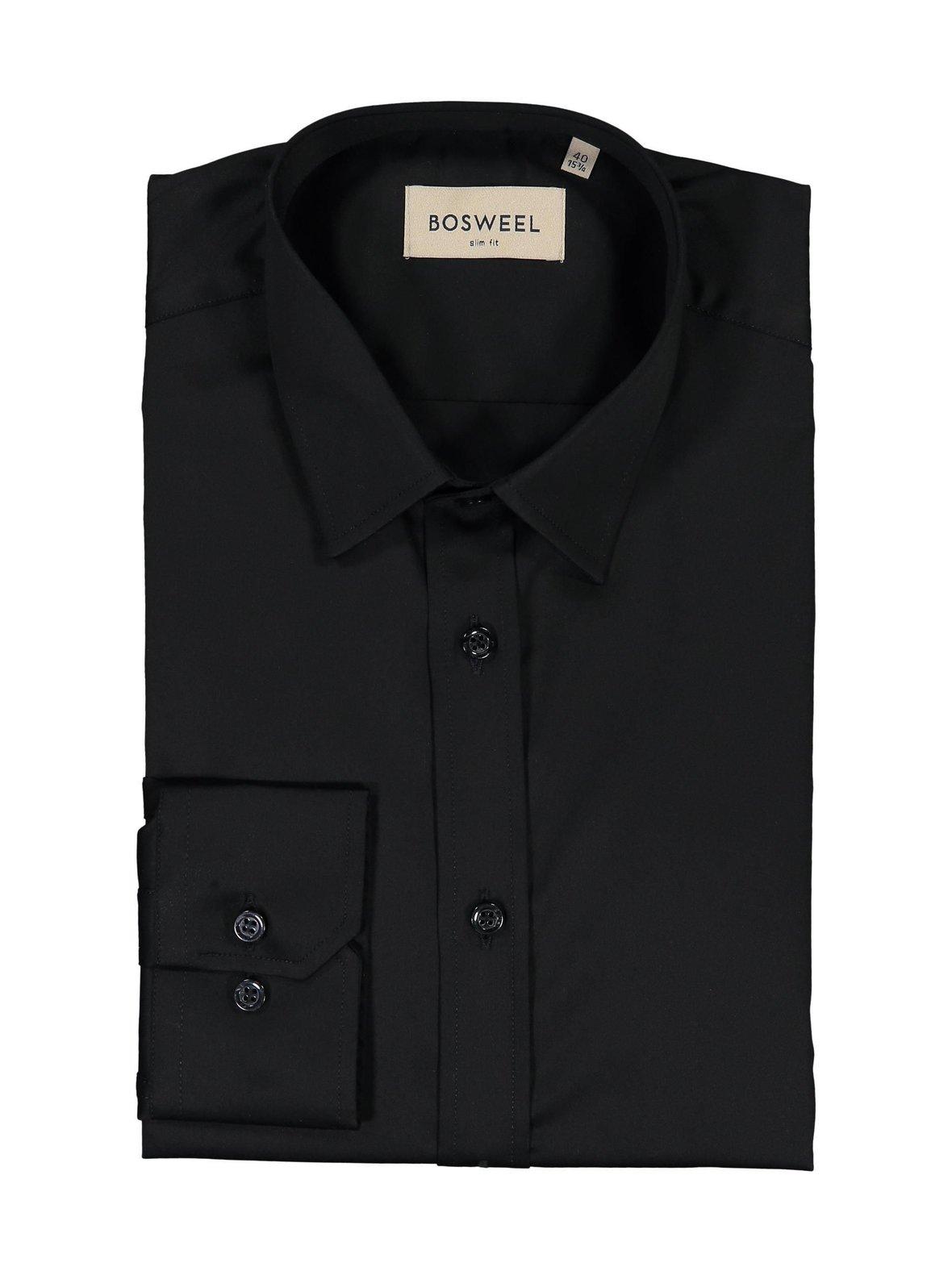 Musta Bosweel 1-393-0 Kauluspaita  fd390e8acb