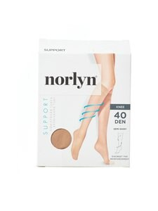 Norlyn - Support 40 den -tukipolvisukat - POWDER | Stockmann