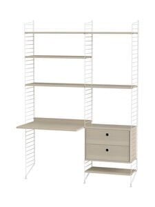 String - String Workspace -työpiste 140 x 200 cm - WHITE/ASH | Stockmann