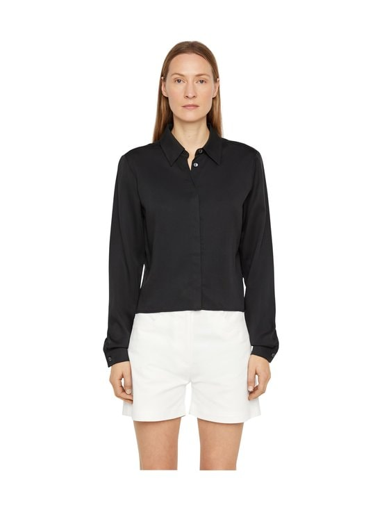 J.Lindeberg - Mallory Cropped Shirt -paitapusero - 9999 BLACK | Stockmann - photo 1