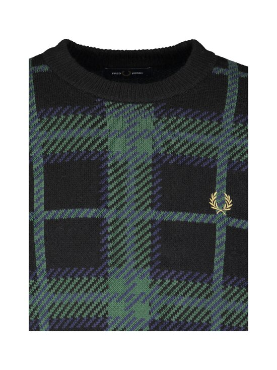 Fred Perry - Tartan C-Neck Jumper -neule - 102 BLACK | Stockmann - photo 3