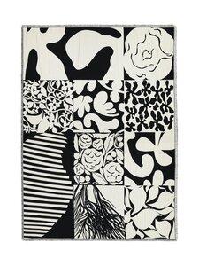 Marimekko - Ruudut-torkkupeitto 130 x 180 cm - VALKOINEN/MUSTA | Stockmann