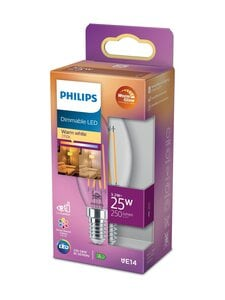 Philips - LED Candle 25W E14 Warm Glow Dimming -kynttilälamppu - WHITE | Stockmann