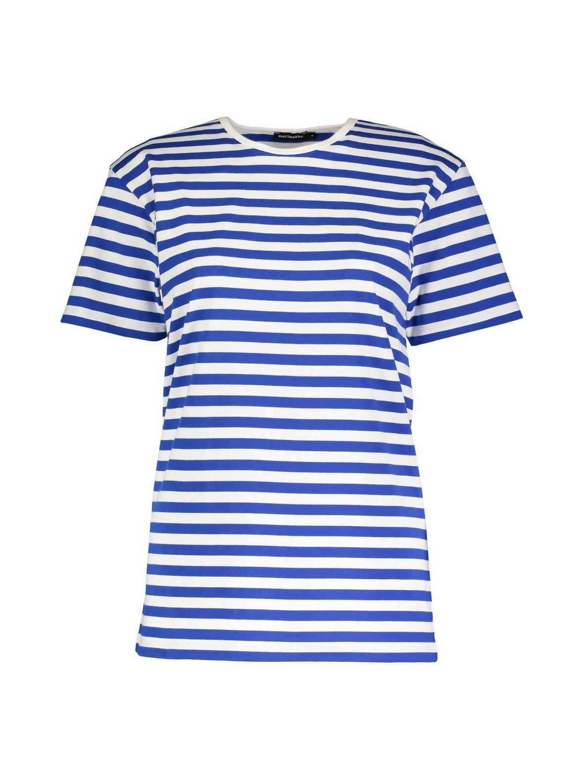 Sininen valkoinen Marimekko Lyhythiha 044734 T-paita  0c5949e2b8