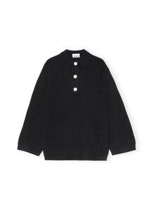 Ganni - Cashmere Knit Blouse Solid -kashmirneule - BLACK   Stockmann