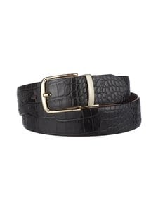 GANT - Croco Reversible -nahkavyö - 5 BLACK | Stockmann