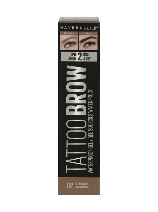 Maybelline - Tattoo Brow Waterproof Gel -vedenkestävä kulmageeli 5 ml - 02 SOFT BROWN | Stockmann - photo 2