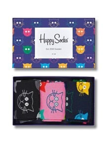 Happy Socks - Mixed Cat -sukat 3-Pack - 0100-MULTI | Stockmann