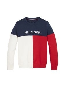 Tommy Hilfiger - Hilfiger Colorblock -puuvillaneule - C87 TWILIGHT NAVY | Stockmann
