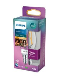 Philips - LED SceneSwitch 40W E14 Flame Warm White -lamppu - WHITE | Stockmann
