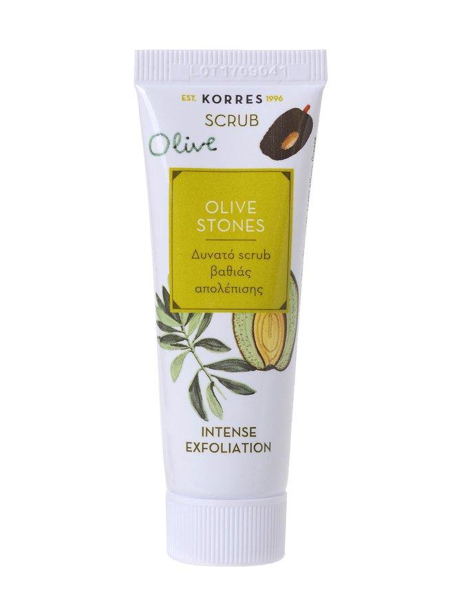 Beauty Shot Olive Stones Scrub -kasvokuorinta 18 ml