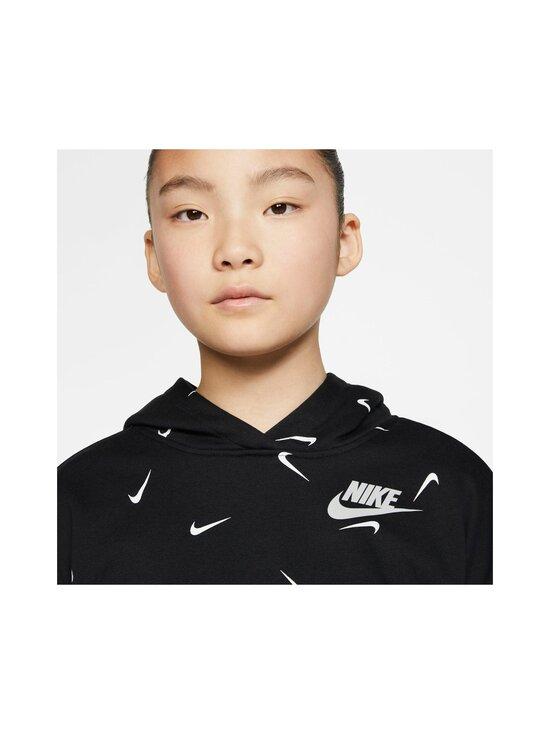 Nike - Cropped Pullover Hoodie -huppari - BLACK/WHITE/LT SMOKE GREY | Stockmann - photo 4