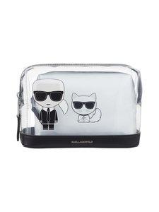 Karl Lagerfeld - K/Ikonik Logo Transparent Pouch -pussukka - WHITE A100   Stockmann