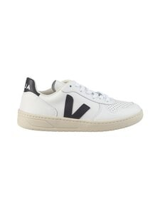 VEJA - V-10 Leather -nahkatennarit - EXTRA-WHITE_BLACK | Stockmann