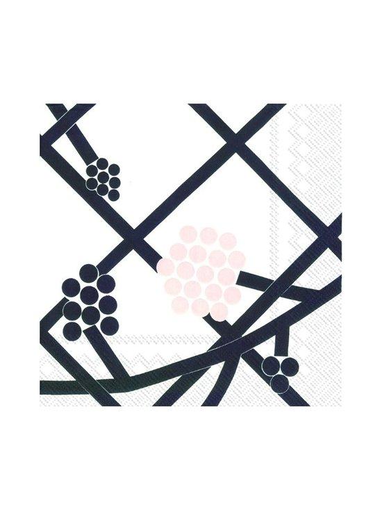 Marimekko - Hortensie-servetti 25 x 25 cm - MUSTAVALKOINEN   Stockmann - photo 1