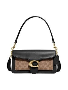 Coach - Tabby Shoulder Bag 26 With Signature Canvas -nahkalaukku - B4OOH B4/TAN BLACK | Stockmann