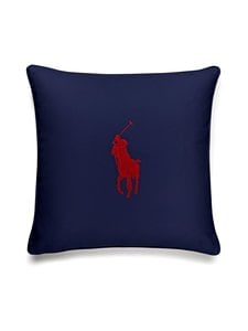 Ralph Lauren Home - Pony-tyynynpäällinen 50 x 50 cm - NAVY/RED | Stockmann