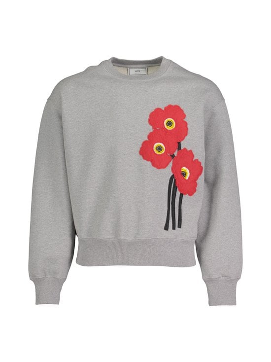 Ami - Poppies Sweatshirt -collegepaita - HEATHER GREY/055   Stockmann - photo 1