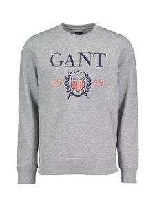 GANT - D1. 1949 Crest C-Neck Sweat -collegepaita - 93 GREY MELANGE | Stockmann