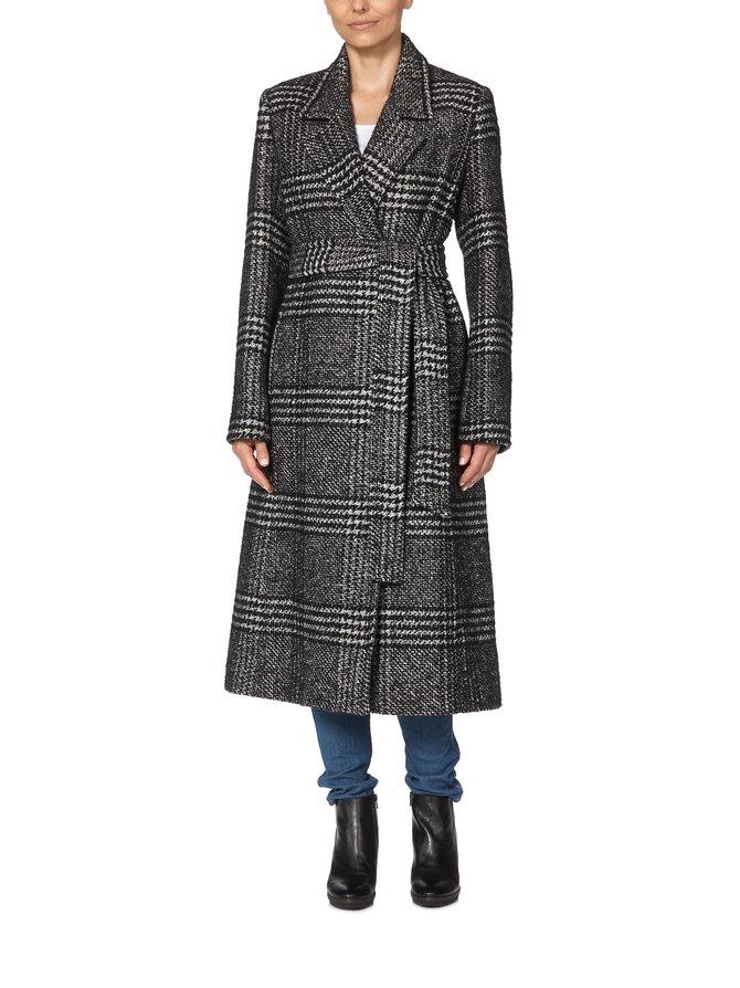 Tailored Check Coat -villakangastakki