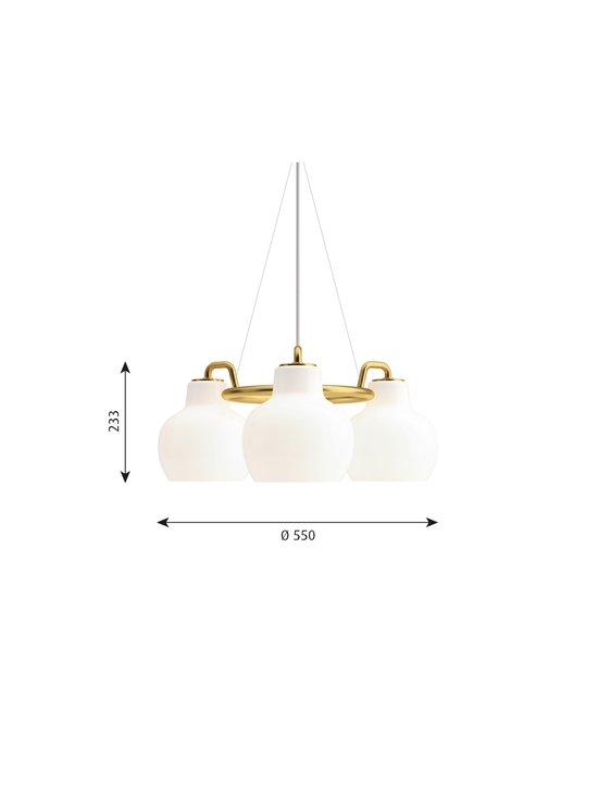 Louis Poulsen - VL Ring Crown -kattovalaisin Ø 55 cm - WHITE/BRASS | Stockmann - photo 2