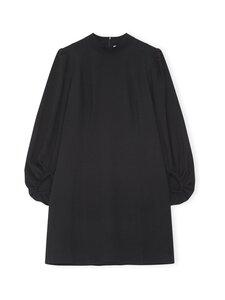 Ganni - Heavy Crepe Mini Dress -mekko - BLACK   Stockmann