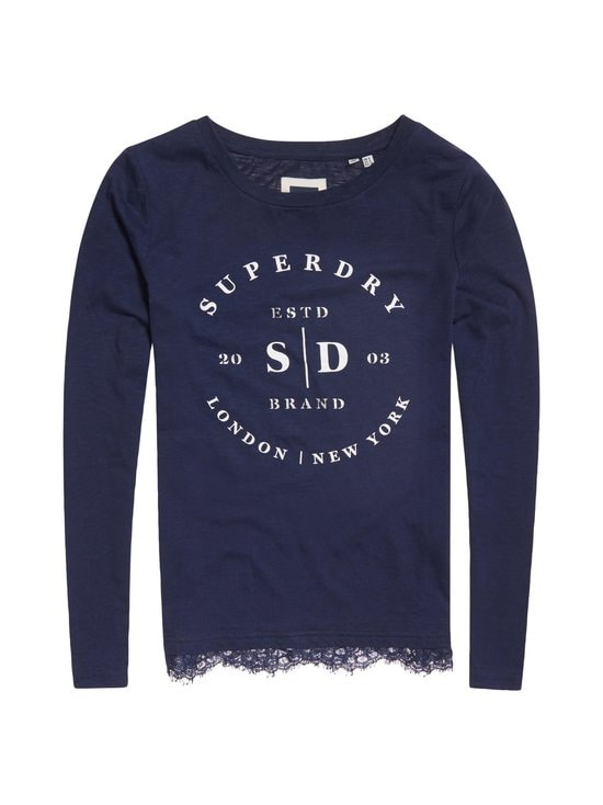 Superdry - Tilly Lace Graphic -paita - 11S NAVY | Stockmann - photo 1