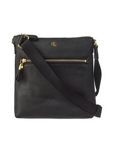 Lauren Ralph Lauren - Jetty Crossbody Medium -nahkalaukku - 2WAH BLACK | Stockmann
