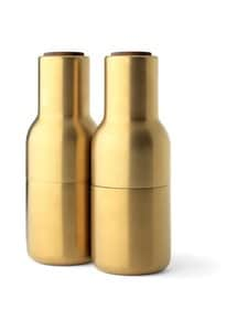 Menu - Bottle-maustemyllysetti - BRUSHED BRASS, WALNUT | Stockmann