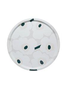 Marimekko - Pieni Unikko -tarjotin 46 cm - 186 WHITE, BEIGE, DARK GREEN | Stockmann