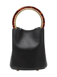MARNI - Pannier Bag With Design Handle -nahkalaukku - 00N99 BLACK   Stockmann