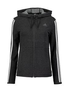adidas Performance - 3-Stripes Full Zip Hoody -huppari - BLACK/WHIT BLACK/WHITE | Stockmann