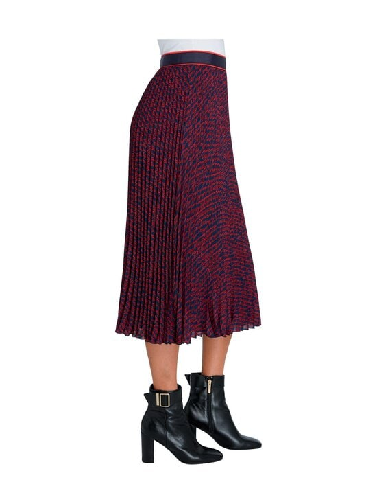Tommy Hilfiger - Bali Pleated Midi -hame - 09P TOMMY SCRIPT PRT / NIGHT SKY / RED | Stockmann - photo 4
