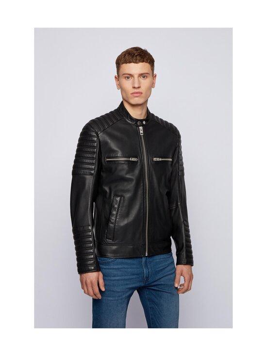 BOSS - Jakoby Leather -nahkatakki - 001 BLACK   Stockmann - photo 2