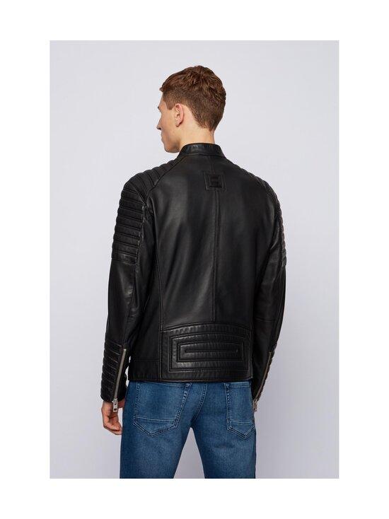 BOSS - Jakoby Leather -nahkatakki - 001 BLACK   Stockmann - photo 3