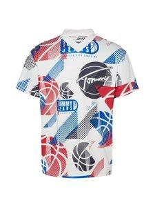 Tommy Jeans - TJM Basketball Graphic Tee -paita - YBR WHITE / MULTI | Stockmann