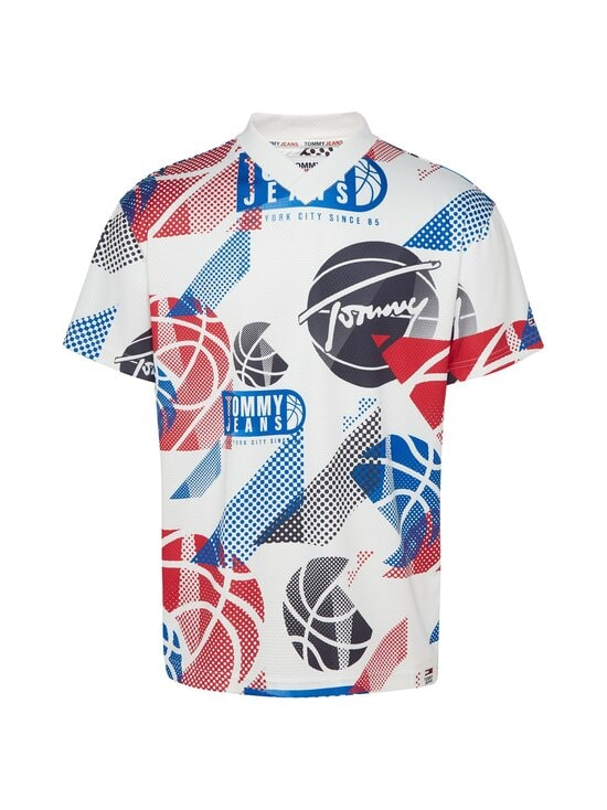 Tommy Jeans - TJM Basketball Graphic Tee -paita - YBR WHITE / MULTI | Stockmann - photo 1