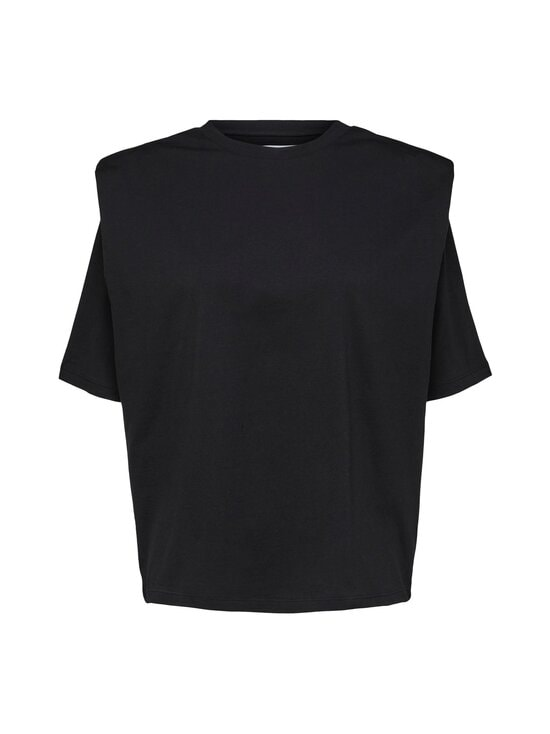 Selected - SlfOline SS Padded Tee Ex -paita - BLACK | Stockmann - photo 1