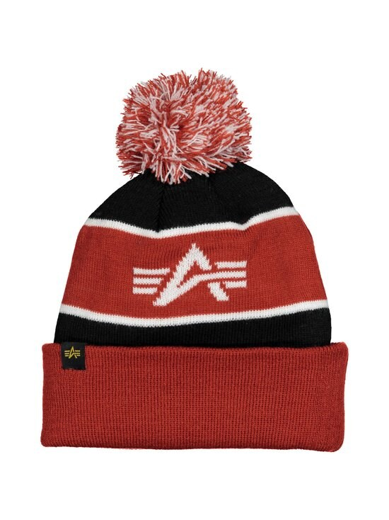 Alpha Industries - Block Bobble Beanie -pipo - BLACK/RED 94 | Stockmann - photo 2