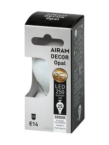 Airam - LED Decor Compact Opal E14 -lamppu - WHITE | Stockmann
