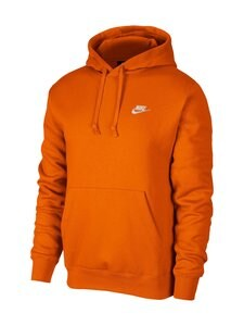 Nike - M Sportswear Club Fleece -huppari - 812 MAGMA ORANGE/MAGMA ORANGE/WHITE | Stockmann